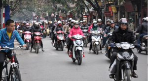 Les scooters de Hô-Chi-Minh